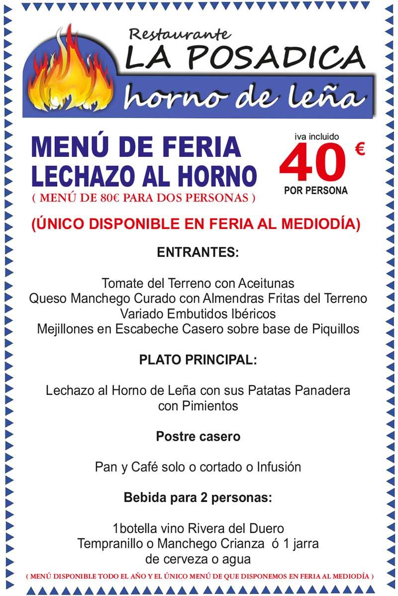 Menú Feria de Albacete 2017